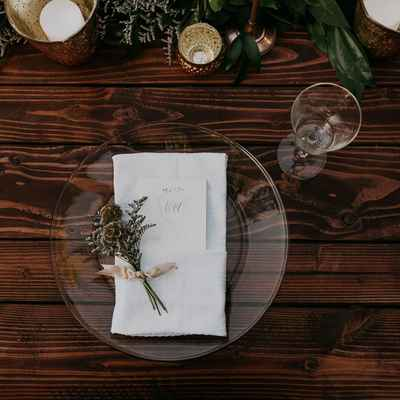 White wedding reception decor