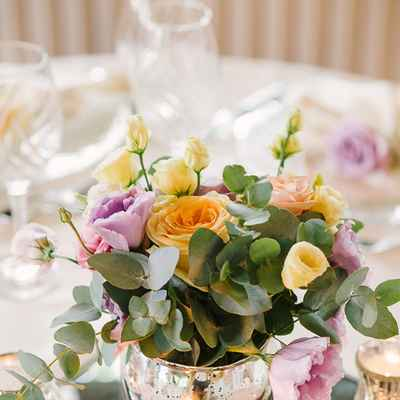 Yellow overseas wedding reception decor