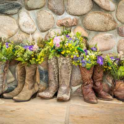 Brown outdoor wedding shoes