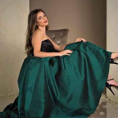 Green long wedding dresses