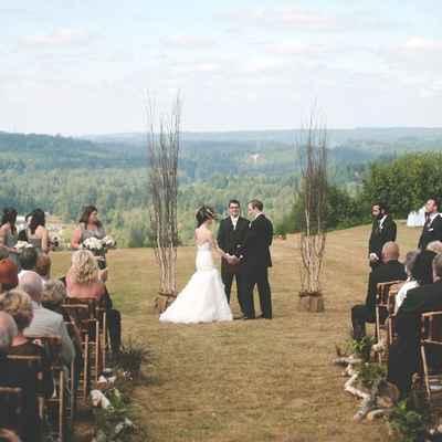 English autumn wedding ceremony decor