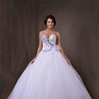 Purple corset wedding dresses
