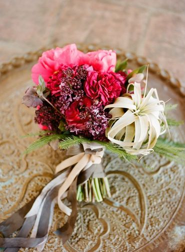 Pink lilac wedding bouquet