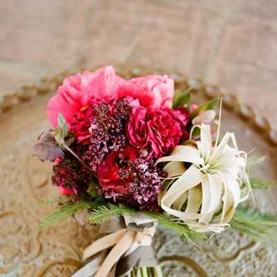 Pink lilac wedding bouquet